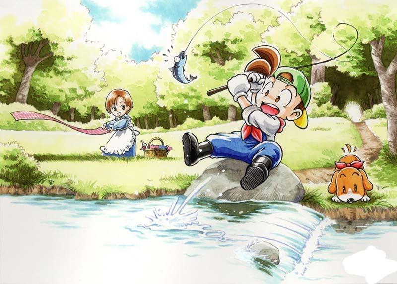 Fishing Harvest Moon Game Harvest Moon Harvest Moon 64
