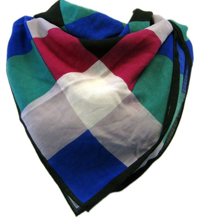 Womens Vintage 1970s Large Check Wool Scarf from www.myvintage.co.uk