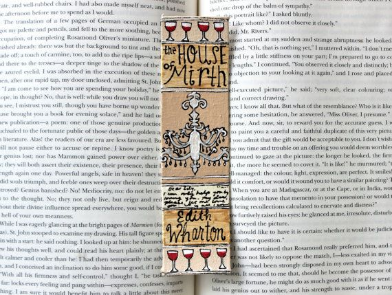 Hand Painted Bookmark // The House of Mirth by PeelsandPosies