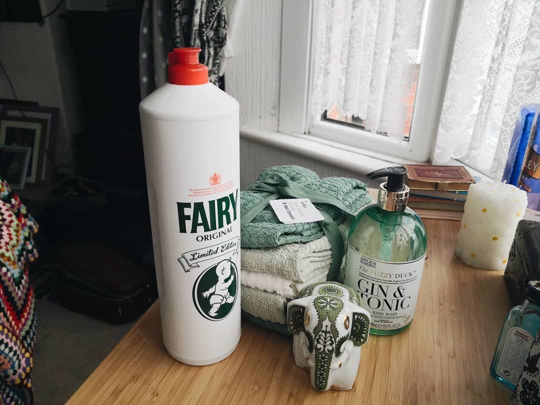 Already started on a slight green theme for my future kitchen... * ~ ~ ~ ~ ~ ~ ~ #diy #decor #charityshop #thrifting #ikea #home #interiors #pinterestinspo #homeinspo #upcycling #budgetdiy #budgethome #furniture #boho #retro #fairyliquid #kitchen #teatowels #wilkos #baylisandharding #futurehome #pinterestinspo
