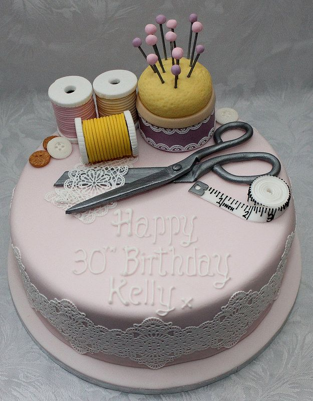 Seamstress Birthday Cake Pinterest Birthday Cakes Cake