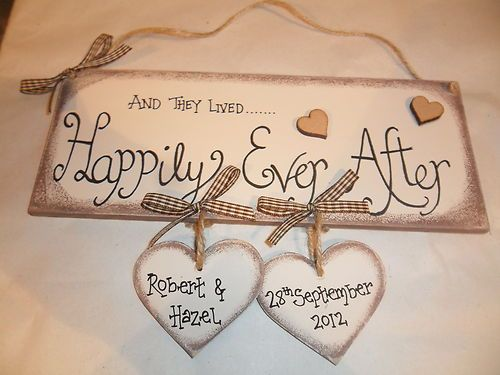 Handmade Wooden Wedding Engagement Plaque Keepsake Gift Ebay