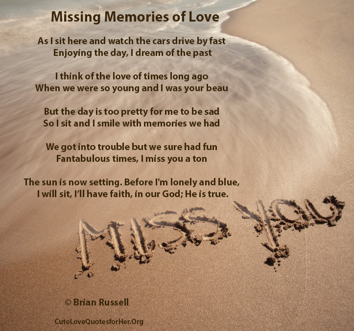 New Miss You Poetry | Cute Love Poems for Her / Him
