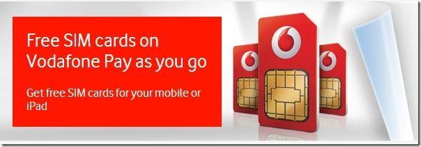 Vodafone Free Sim Cards Free Sims Sims Free