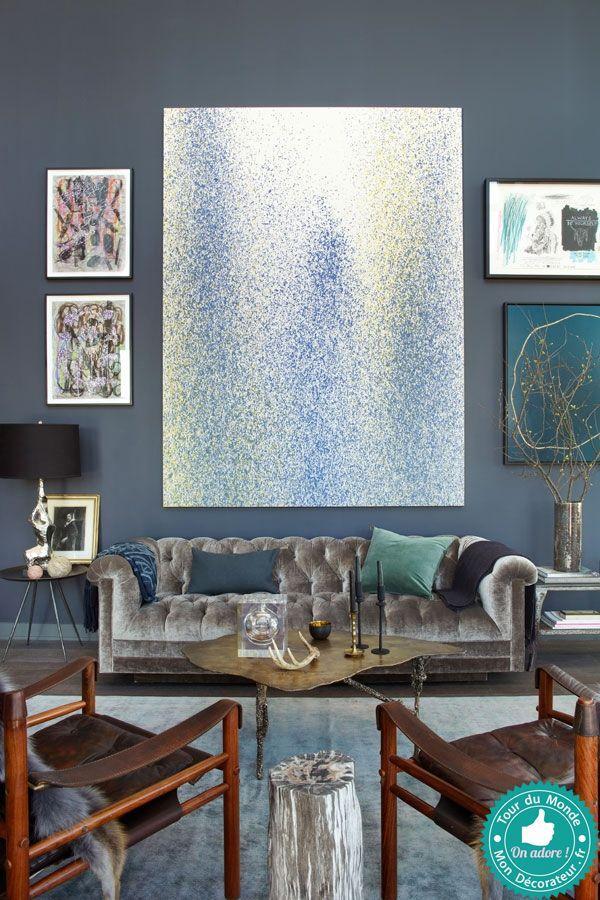 Mon décorateur dintérieur duplex bleu à brooklyn · décoration classiqueescalier décorationescaliersdeco mervacancesidées