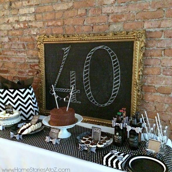 40th birthday party idea for a man dessert buffet for 40th birthday decoration