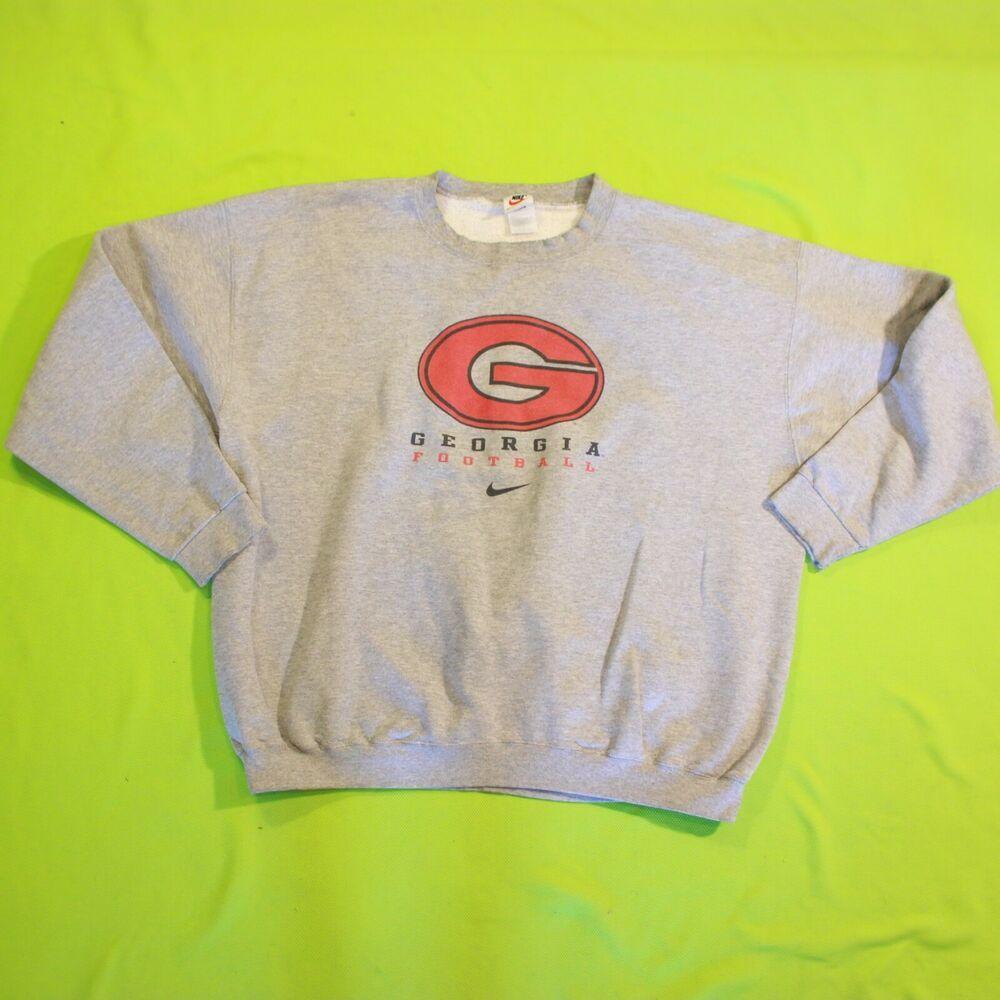Vintage Georgia Bulldogs Sweatshirt Nike Crewneck Pullover Usa Made Gray Nike Sweatshirt Sweatshirts Jordan Fits Bulldog Sweatshirt [ 1000 x 1000 Pixel ]