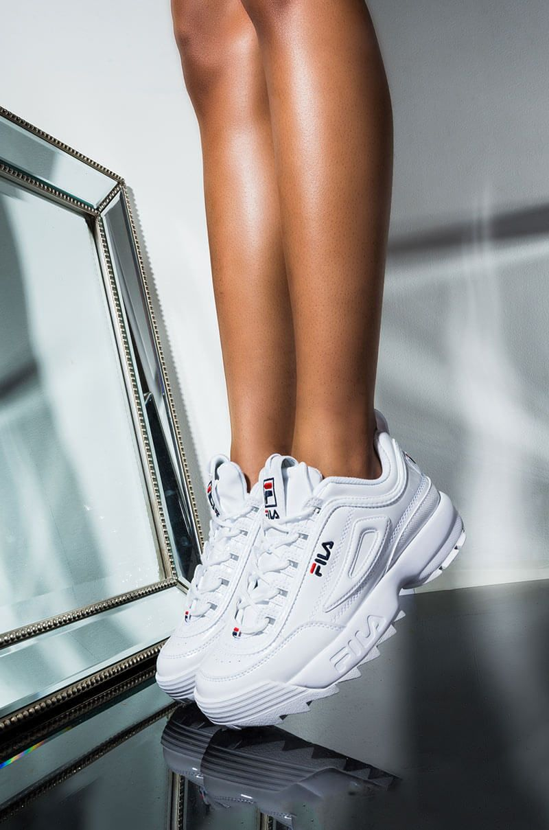 FILA Patent Leather Chunky Sole Lace Up