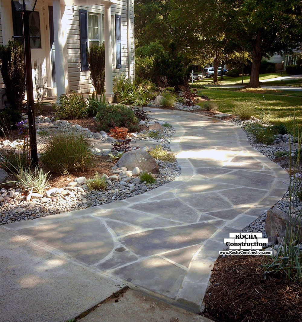 flagstone walkways flagstone walkway flagstone is a really popular material that can be - Flagstone Walkway Design Ideas