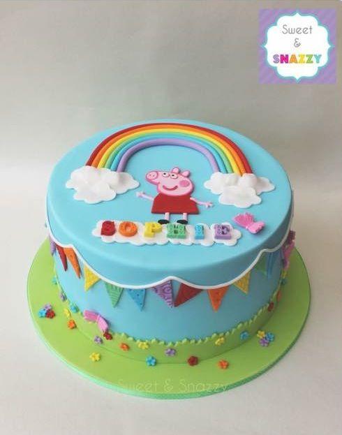 Mia S Bday Cake Sheet Cake Sept 13 Peppa Pig Mishah Josh Williams Peppa Wutz Torte Kinder Kuchen Geburtstag Kuchen Geburtstag