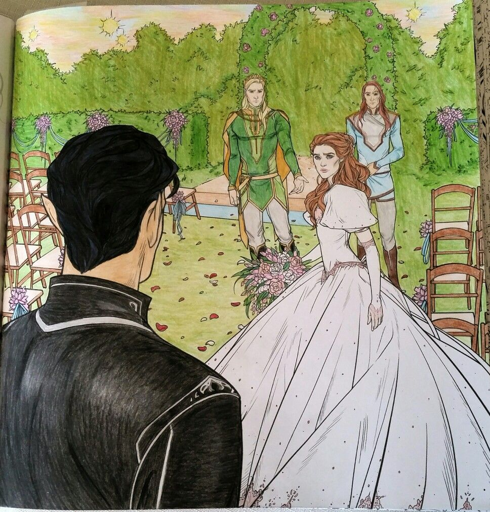 The Wedding Guest ACOTAR coloring