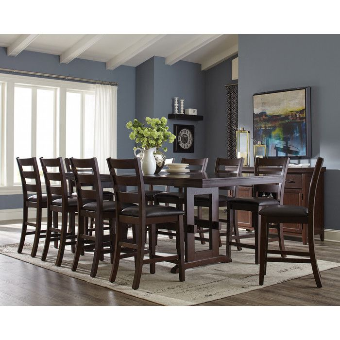 Richmond 11 Piece Counter Height Extendable Dining Set Counter