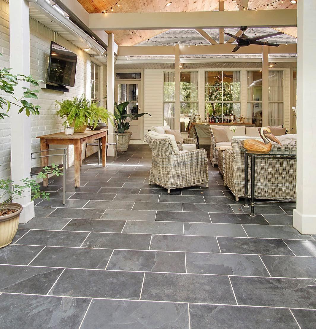 black slate tile by triton stone