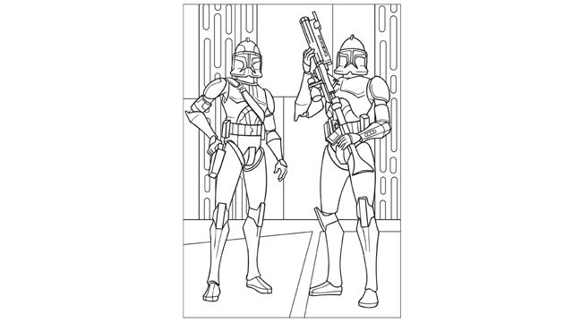 Star Wars The Clone Wars Clone Troopers Coloring Page Super