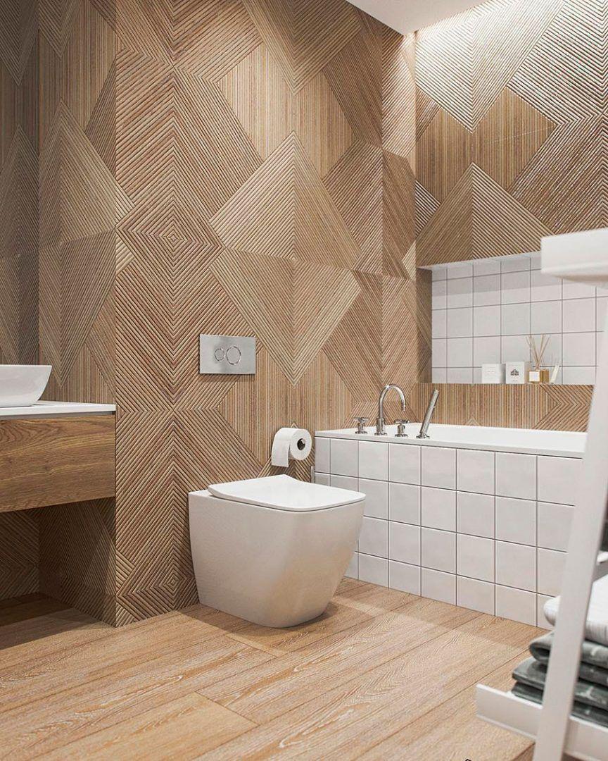 5 Amazing Bathrooms With Wood Effect Wall Tiles Porcelanosa Trendbook In 2020 Wood Wall Bathroom Bathroom Wall Tile Bathroom Decor