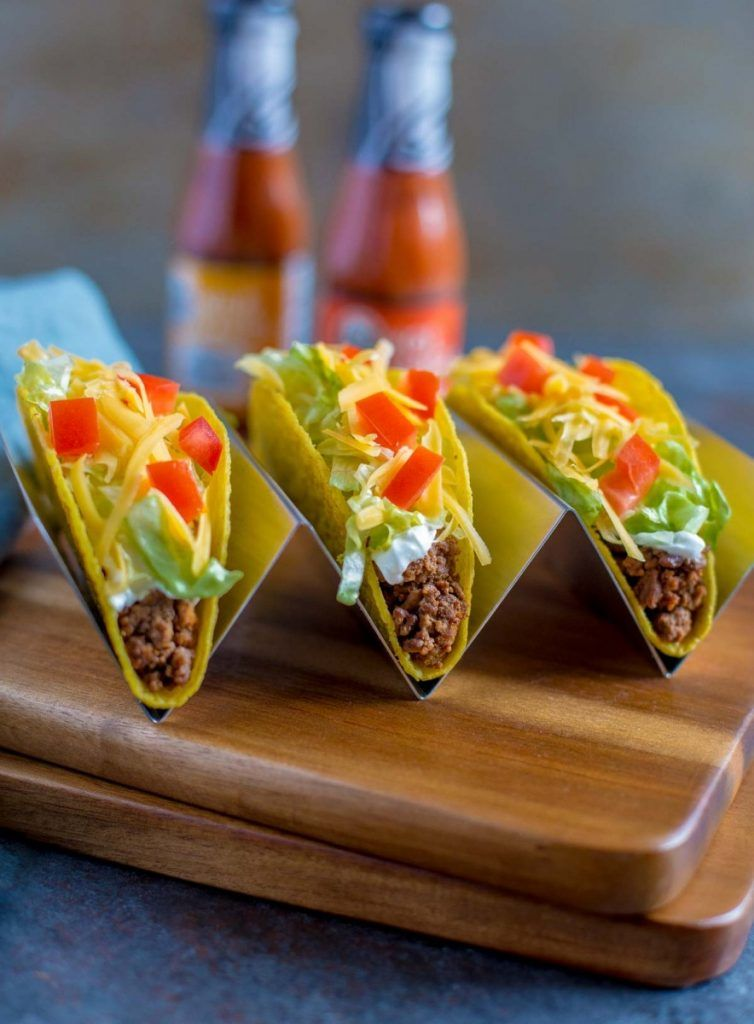 Taco Bell Crunchy Ground Beef Tacos Copycat Recipe Tacos Beef Ground Beef Tacos Copycat Recipes