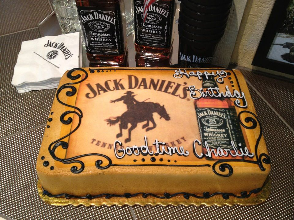 Cant go wrong with a Jack Daniels birthday cake for the man of