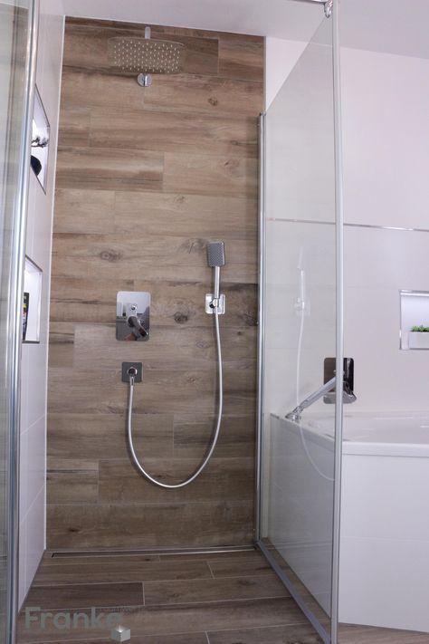 Fliesen im Dielenformat - natürlich schön    wwwfranke - badezimmer mit dusche