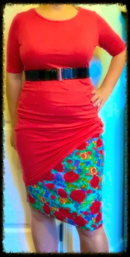 Julia gathered diagonally, Cassie pencil skirt and a waist belt