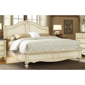 American Woodcrafters Cau French Country Style Sleigh Bed