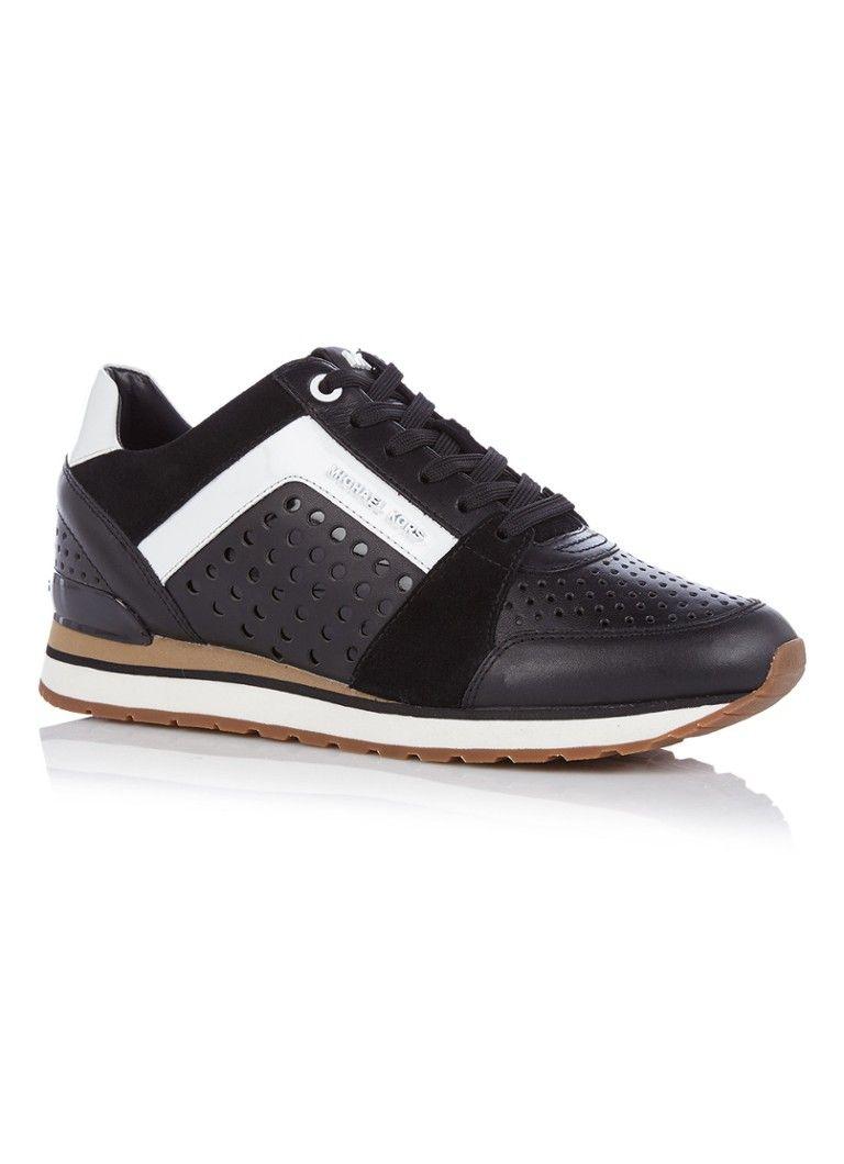 e1483e15eed Michael Kors Billie sneaker van leer • de Bijenkorf | Kleding/Mode ...