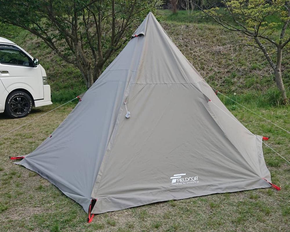 ワンポールテント フィールドドア テント テント ソロキャンプ ポール