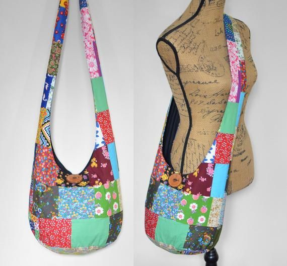 Vintage Quilt Top Boho Bag Crossbody Bag Patchwork Hobo Bag Hippie Purse Fabric Sling Bag Cot Vintage Quilt Top Boho Bag Crossbody Bag Patchwork Hobo Bag Hippie Purse Fab...