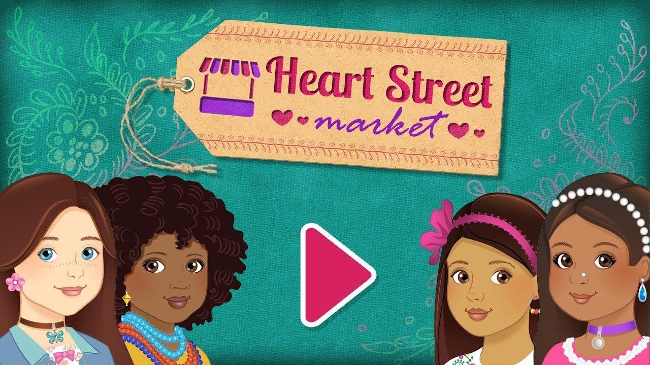 Heart street market trailer games for girls kids app
