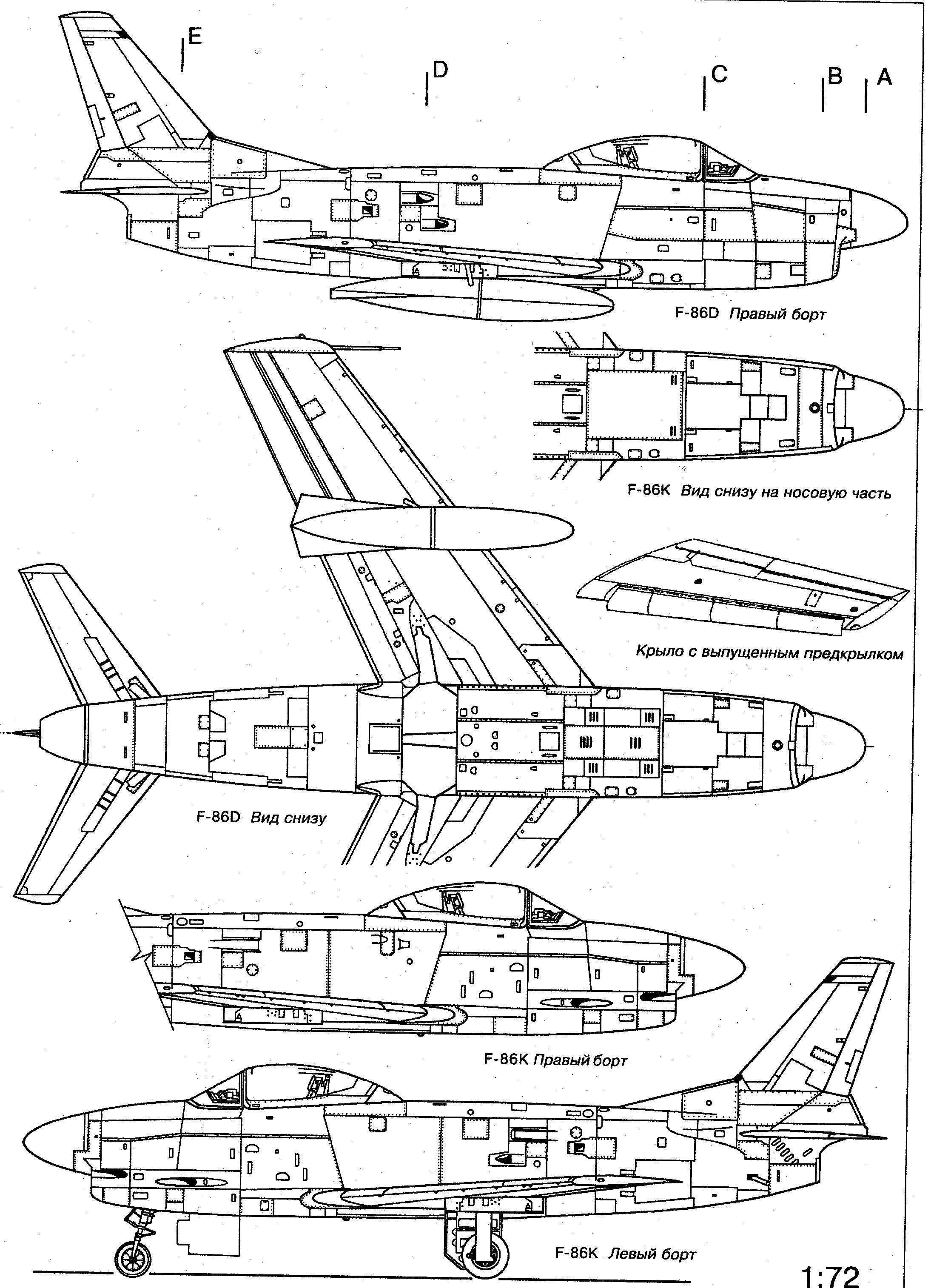 F 86 Sabre Blueprint