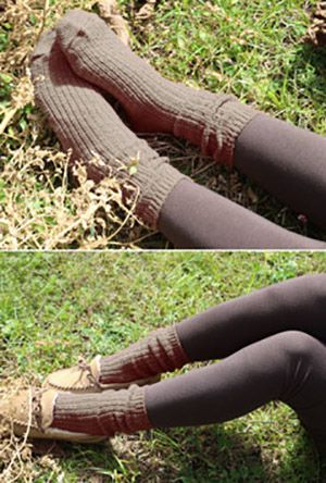 Day by Day Chunky Knit Socks in Taupe | Sincerely Sweet Boutique