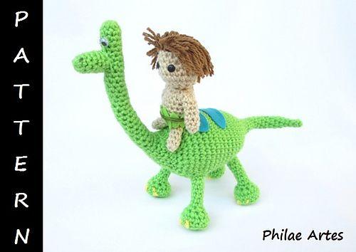 Arlo & Spot, The Good Dinosaur pattern by Vivianne Russo - Philae