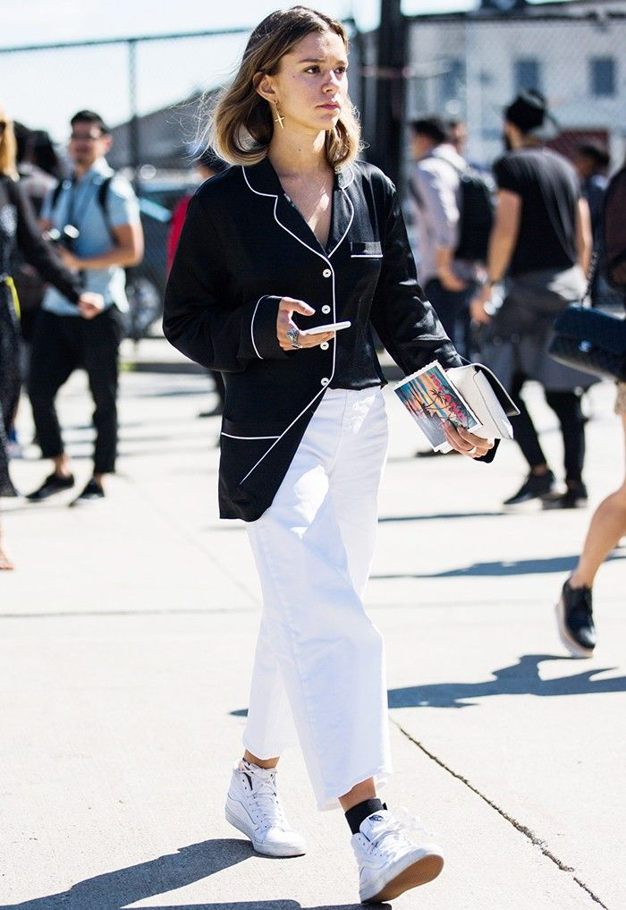 How to Wear White Jeans for a British Summer via @WhoWhatWearUK