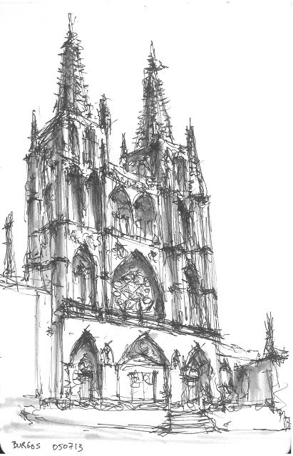 Architecture Drawing Techniques catedral de burgos.- judel | architectural drawings | pinterest