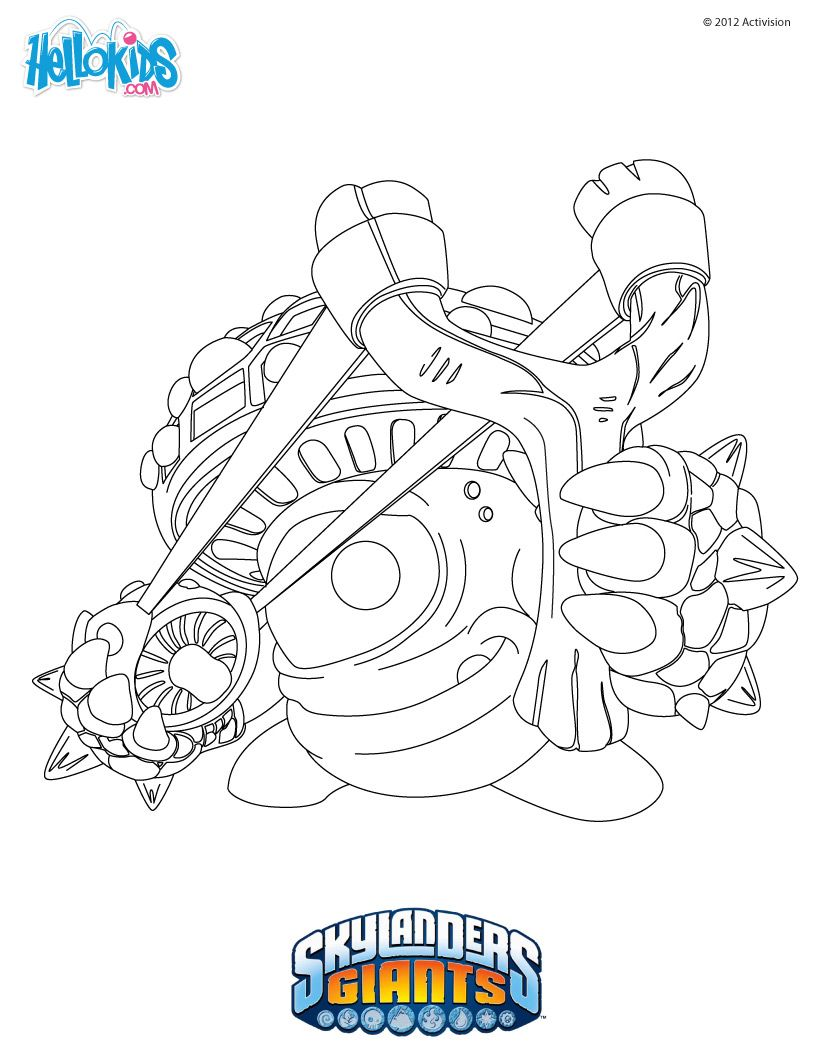 skylanders coloring page shroomboom parties kids