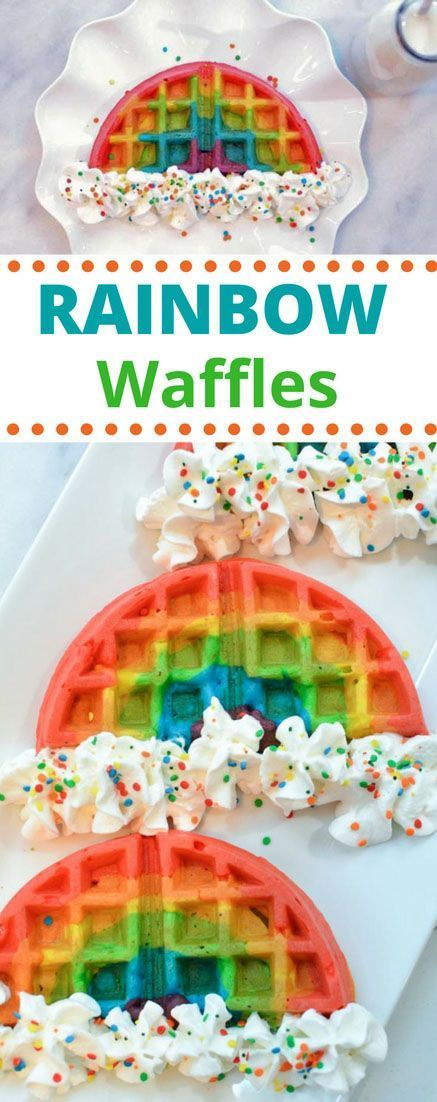 Rainbow Waffles – A Magically Delicious Breakfast