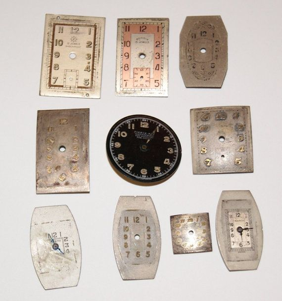 Vintage Watch faces for Steampunk Jewelry and scrapbooking