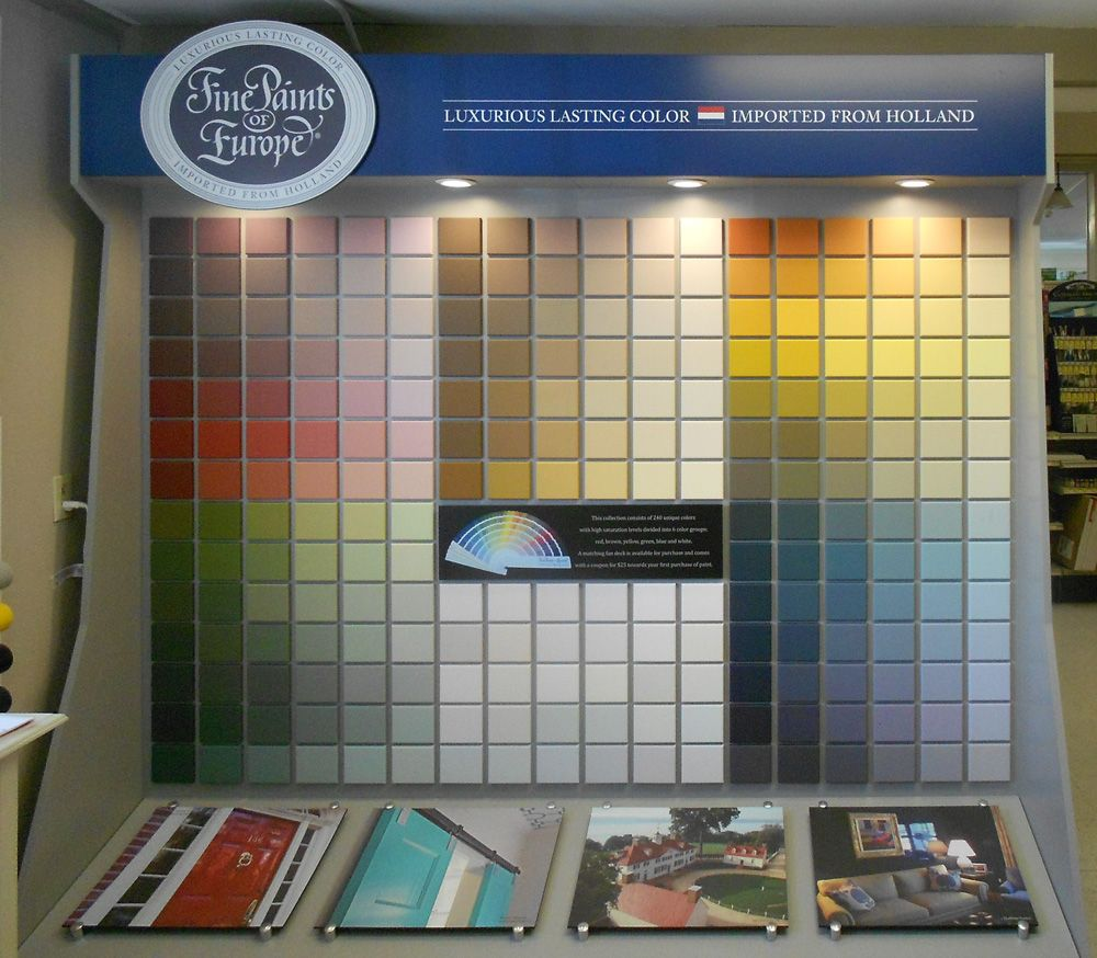 Fine Paints of Europe Display Brilliant exterior. Marine Home Center 134 Orange Street Nantucket, MA 02554