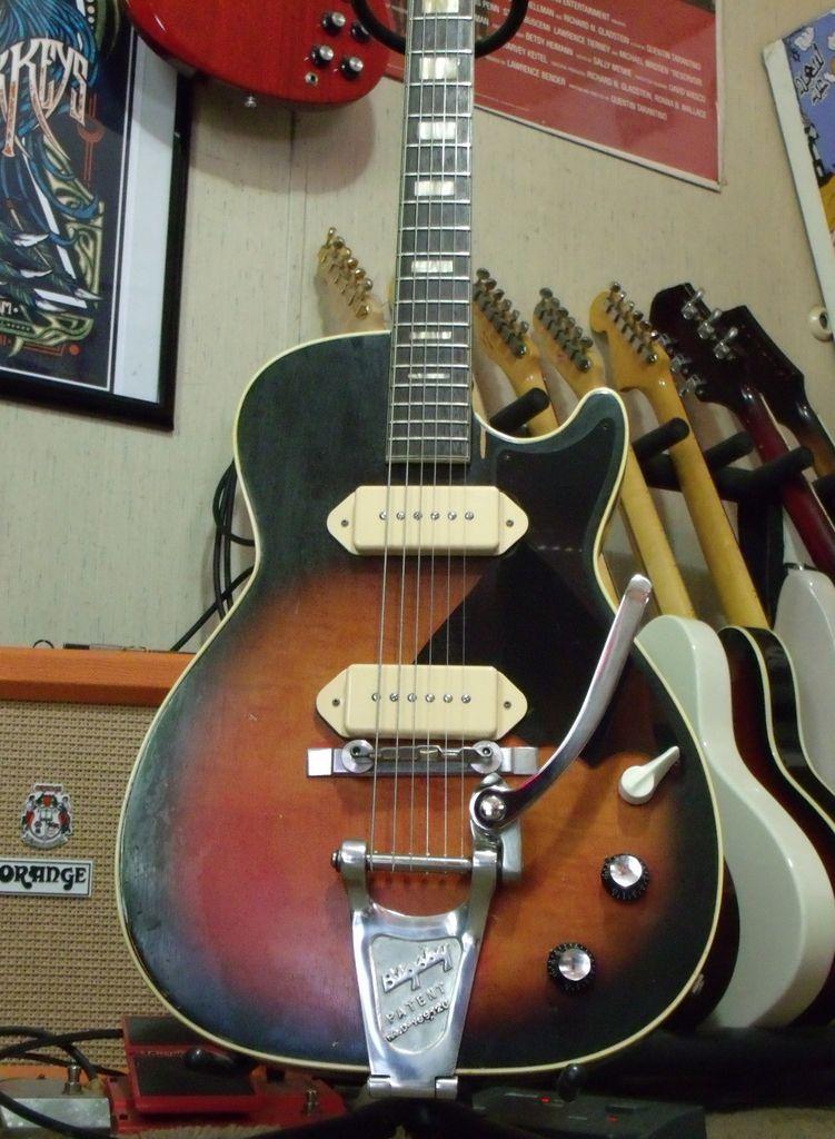 3f08118c74 Dan Auerbach Harmony Stratotone H47 w/ P90 pick ups 'copy.' The Black Keys