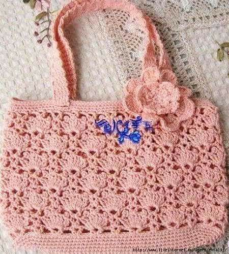 Летняя ажурная сумочка