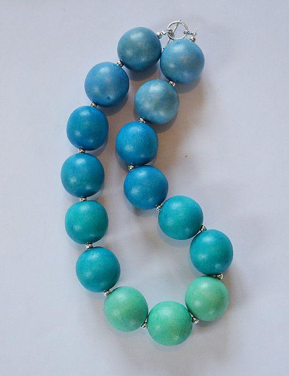 Pin By Maja Zivanovic On Drvene Perle Wooden Bead Necklaces