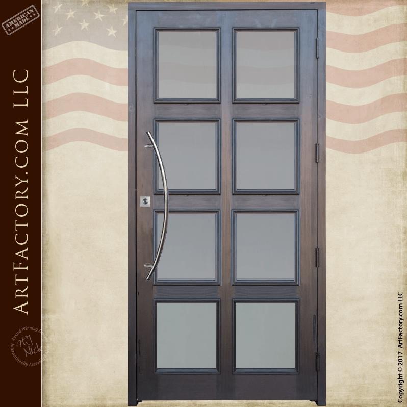 Contemporary Custom Glass Panel Door Modern 8 Panel Entrance Doors Glass Panel Door Custom Glass Entrance Doors