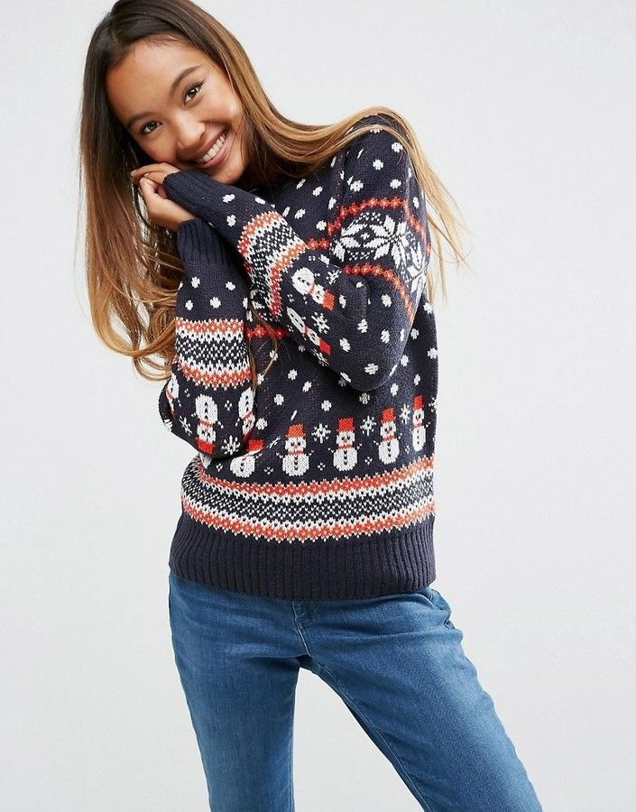 「ugly christmas sweater womens asos」の画像検索結果