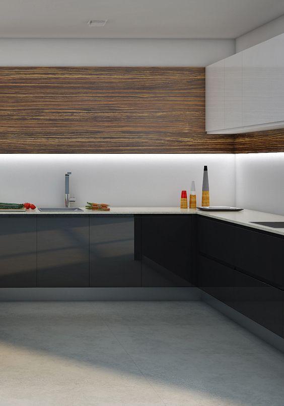 Elegir un tono neutro como color principal en la cocina es una ...