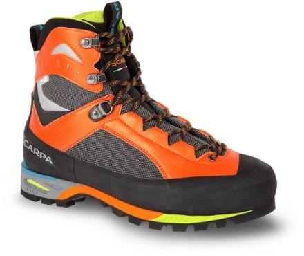 timeless design dea06 b5af4 Scarpa Men's Charmoz Mountaineering Boots Shark/Orange 48 EU ...
