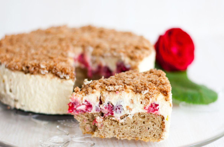 Lowcarb Himbeer Vanille Kuchen Mit Kokoskruste Low Carb Kuchen