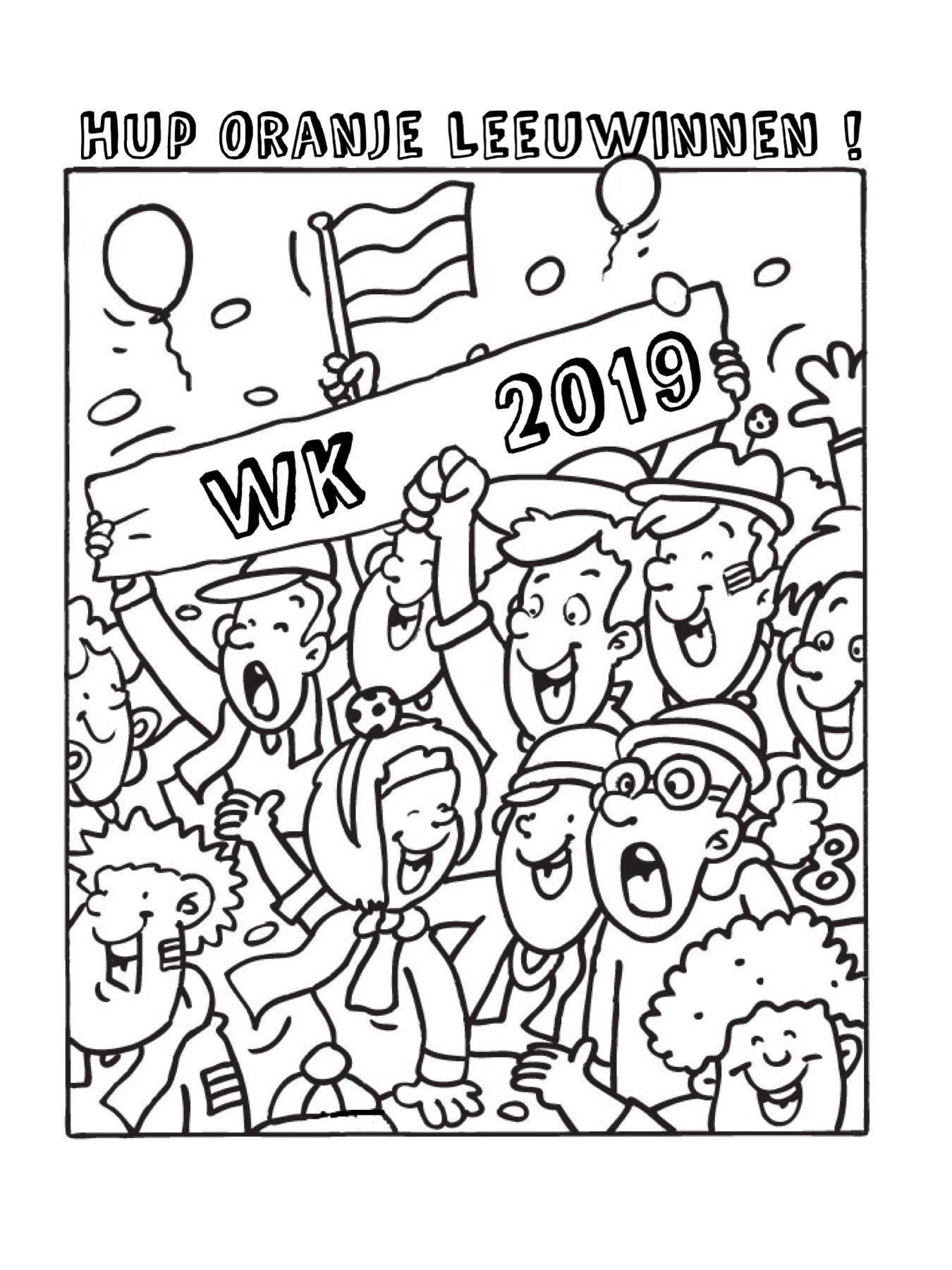 Kleurplaat Oranje Leeuwinnen Wk 2019 Voetbal Vrouwen Kleurplaten Vrouwenvoetbal Voetbal