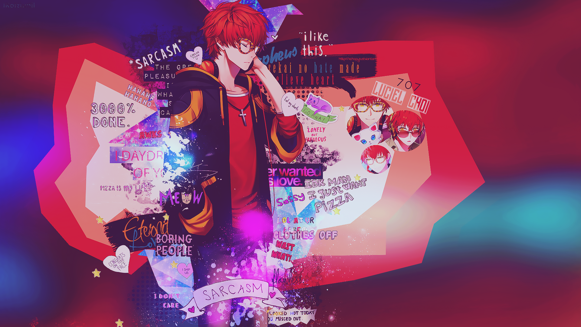 Wallpaper Luciel Choi 707 Mystic Messenger By Lkoizumil On Deviantart Mystic Messenger 707 Mystic Messenger Anime