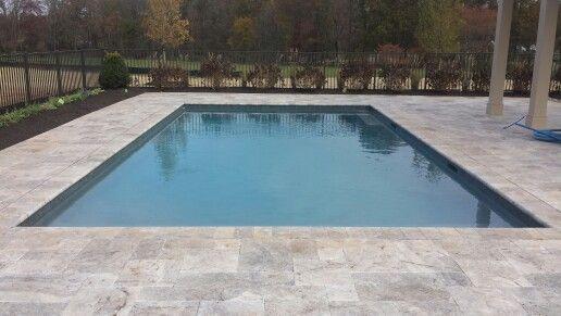 Silver Travertine Deck Coping Travertine Pool Swimming Pools
