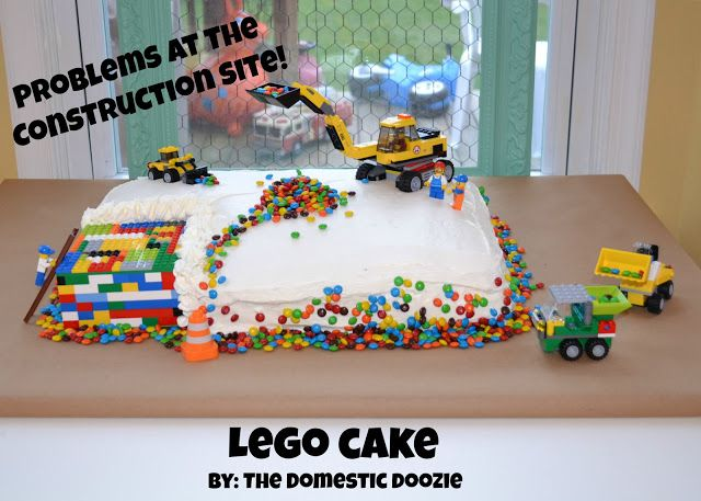 Much Easier Lego Cake Idea Lego Birthday Cake Easy Lego Cake