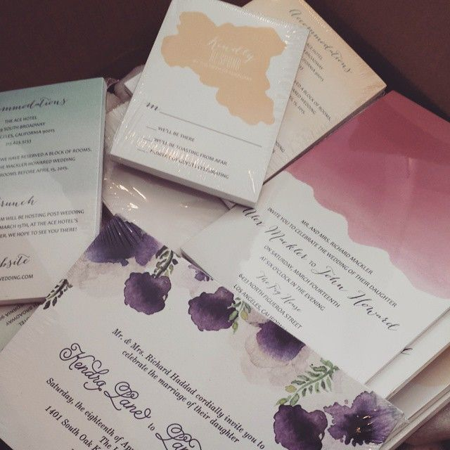 Pretty excited about the contents of this box!  So glad there is a photo shoot happening soon.  Check the store for these new watercolor designs! #envelopments #etsy #etsyweddings  Invited by LamaWorks www.invitedbylamaworks.com